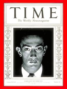 Salvador Dali on the cover of TIME magazine, 1934.