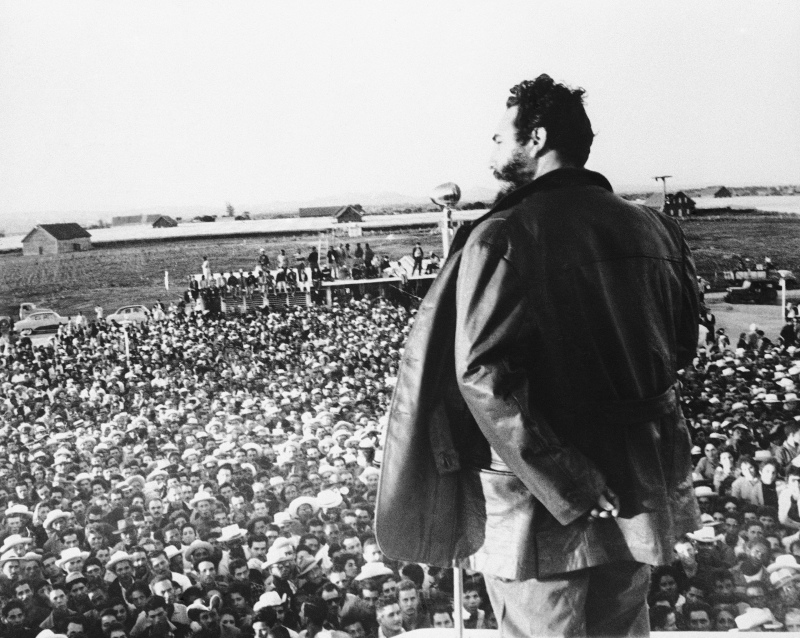 Castro At Tobacco Workers Rally 1960
