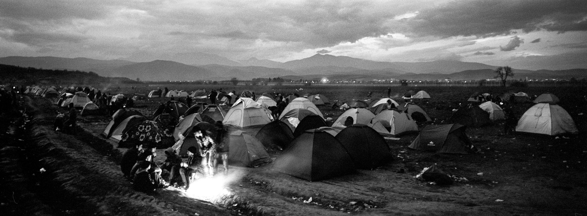 A view of the camp for refugees and migrants along at the Greek-Macedonian border, near the village of Idomeni.