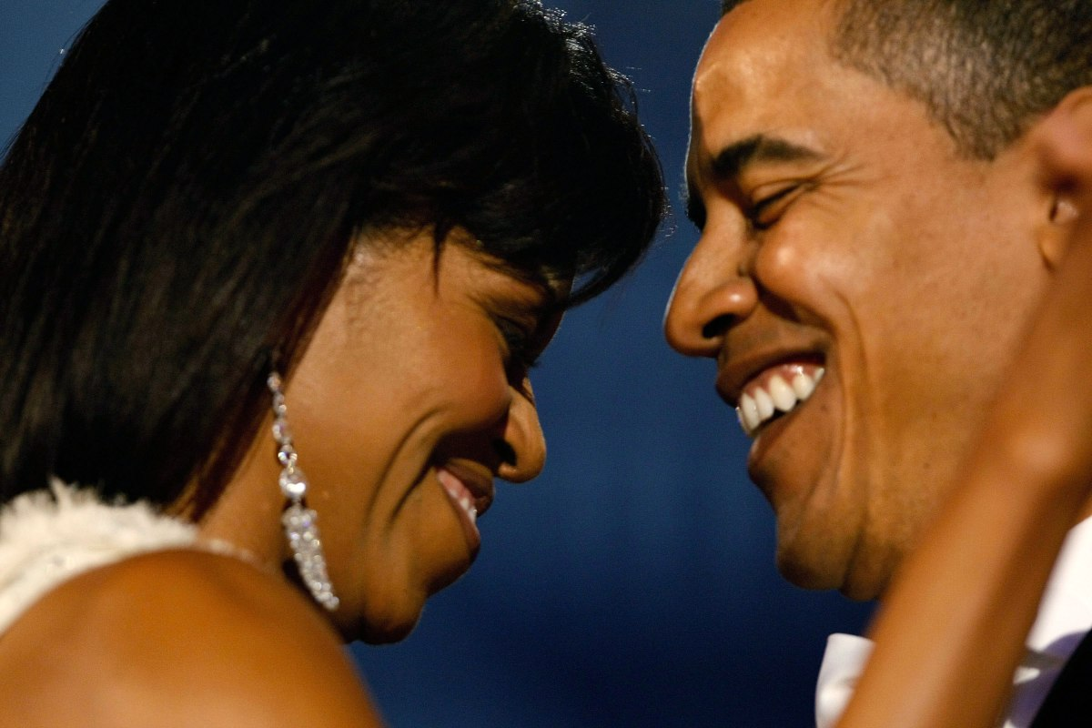 Barack Obama and Michelle Obama attend the Neighborhood Inaugural Ball at the Washington Convention Center in Washington D.C., on Jan. 20, 2009.