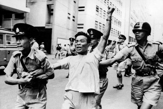 A Pro-Mao Demonstration In Hong Kong 1967