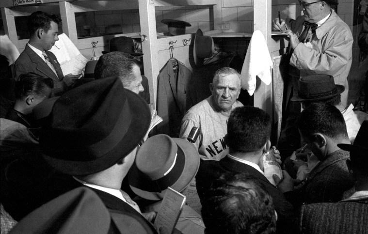 New York Yankees Casey Stengel, 1958 World Series