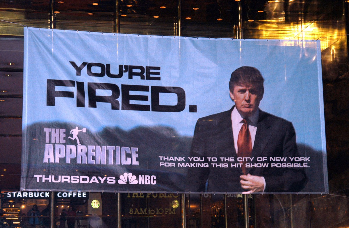Donald Trump's 'The Apprentice' Sign Thanking New York City
