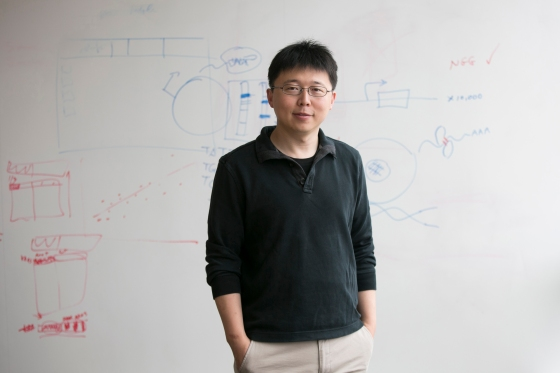 Dr. Feng Zhang in a conference room at the Broad Institute, Cambridge, MA, Oct.1, 2015.
