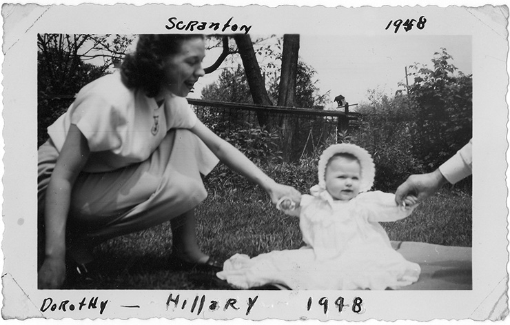 Hillary Rodham and her mother, Dorothy, in a family photograph from 1948.