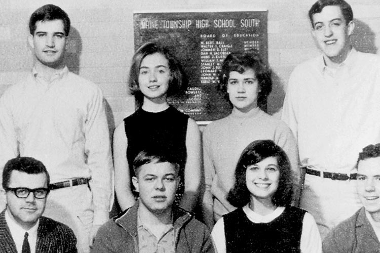 Hillary, seen in a picture at Waine Township High School South.