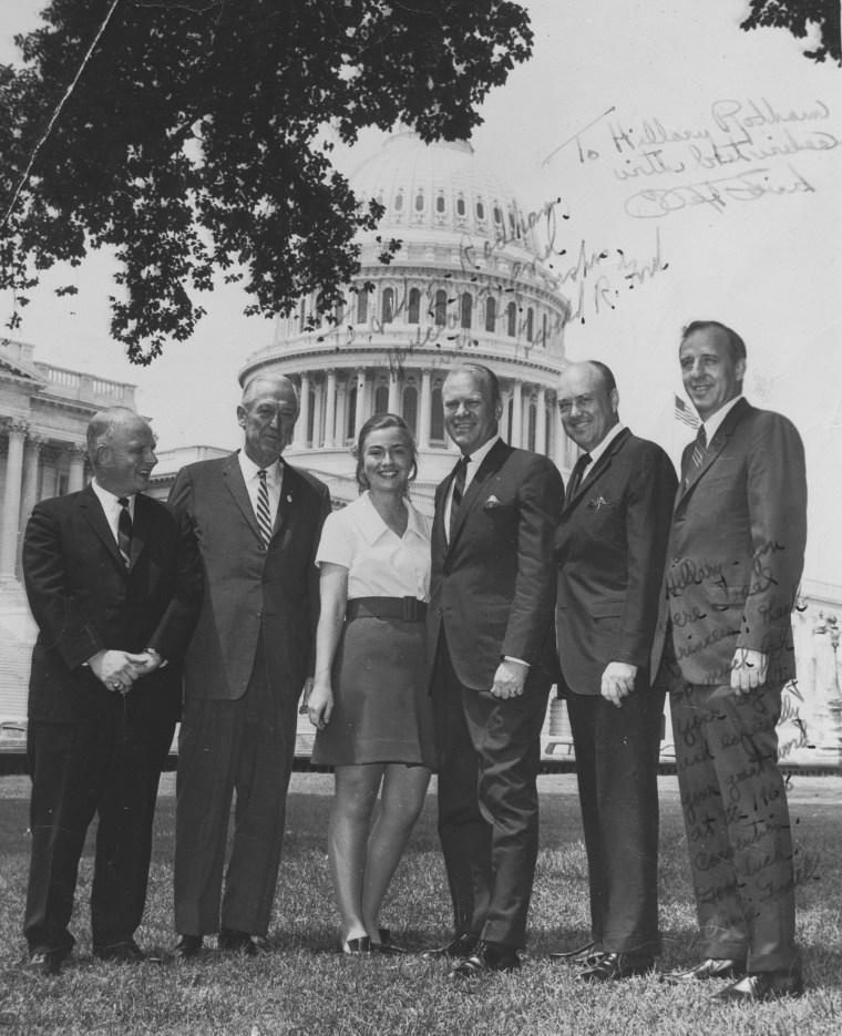 Hillary Clinton as an intern with Congress, Summer 1968.