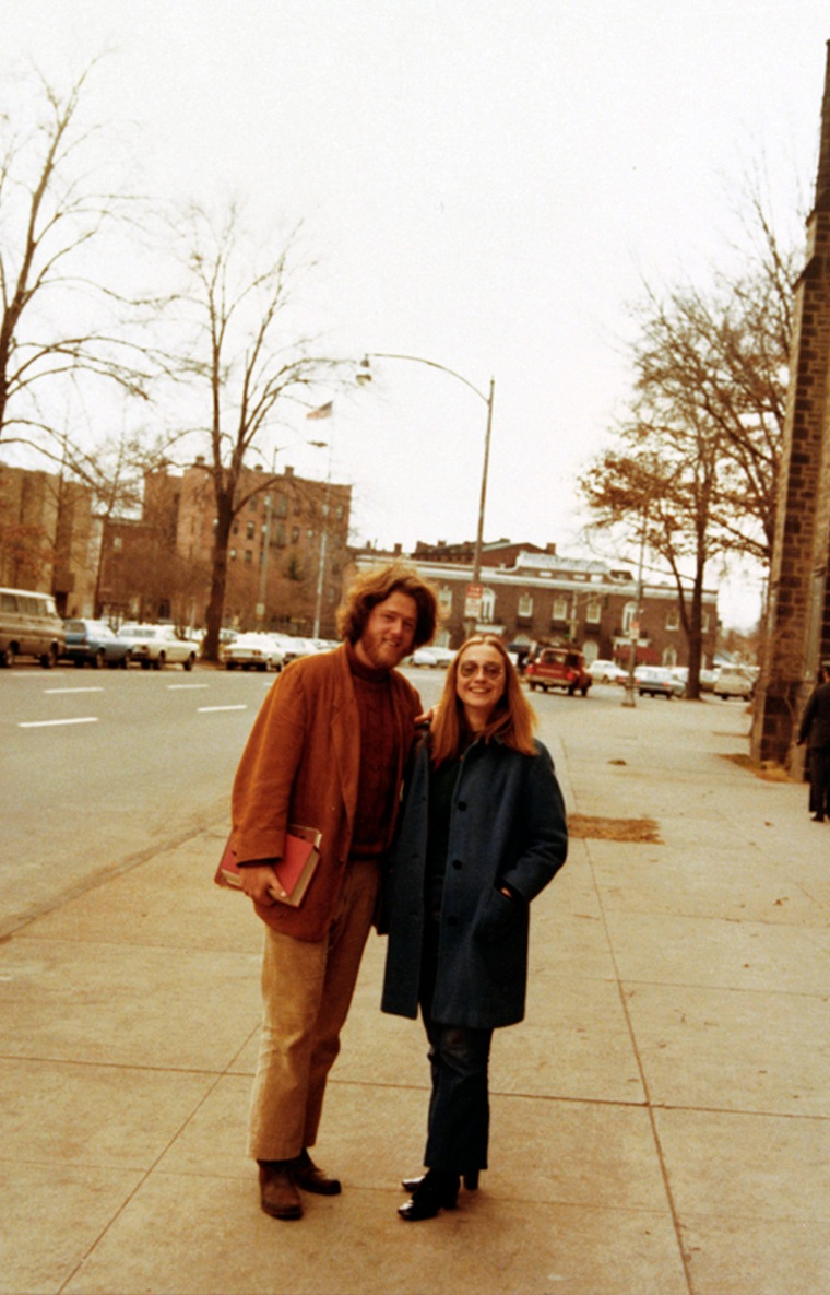 Bill Clinton and Hillary Rodham Clinton at Yale Law School, 1972.