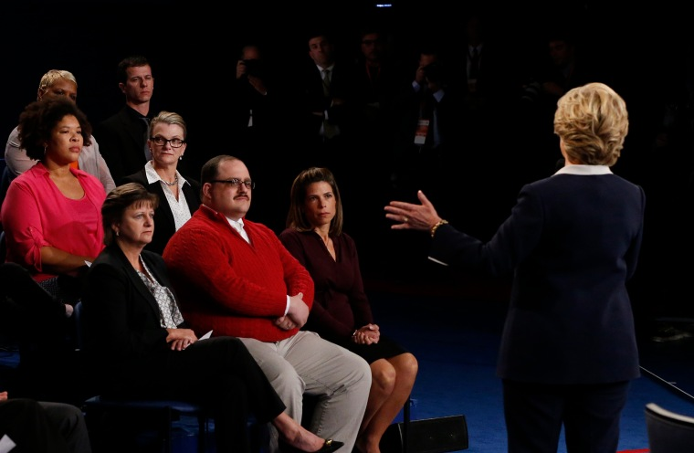 Hillary Clinton speaks during the second presidential debate at Washington University on Oct. 9, 2016, in St. Louis, Missouri.