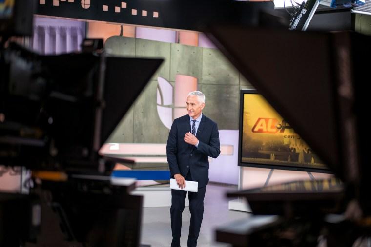 Univision news anchor Jorge Ramos at the Univision studios on Nov. 14, 2014, in Miami, Florida.