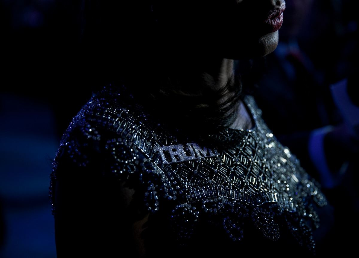 Omarosa Manigault at an election night party for Republican presidential candidate Donald Trump, Tuesday, Nov. 8, 2016 in New York's Manhattan borough. Trump faces Democratic nominee Hillary Clinton in the contest for president of the United States.