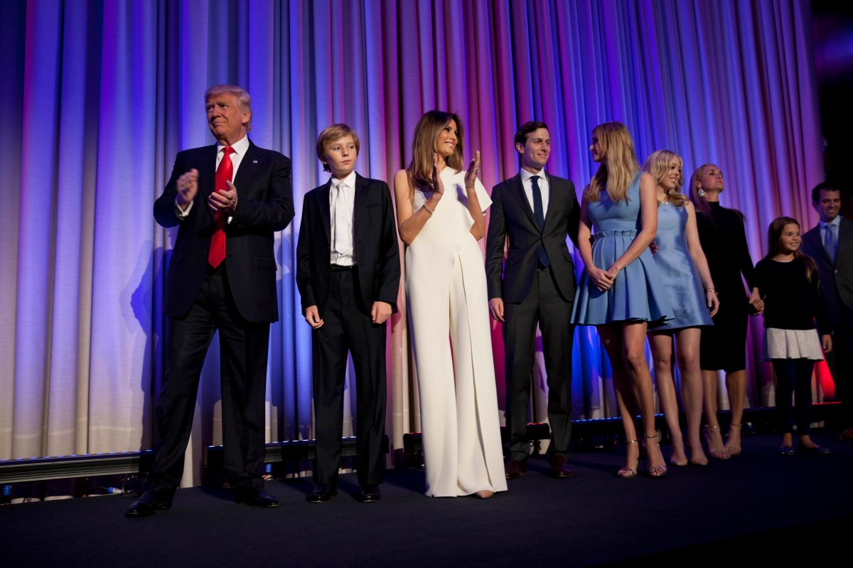 Donald Trump, Election Night Hilton Hotel NYC