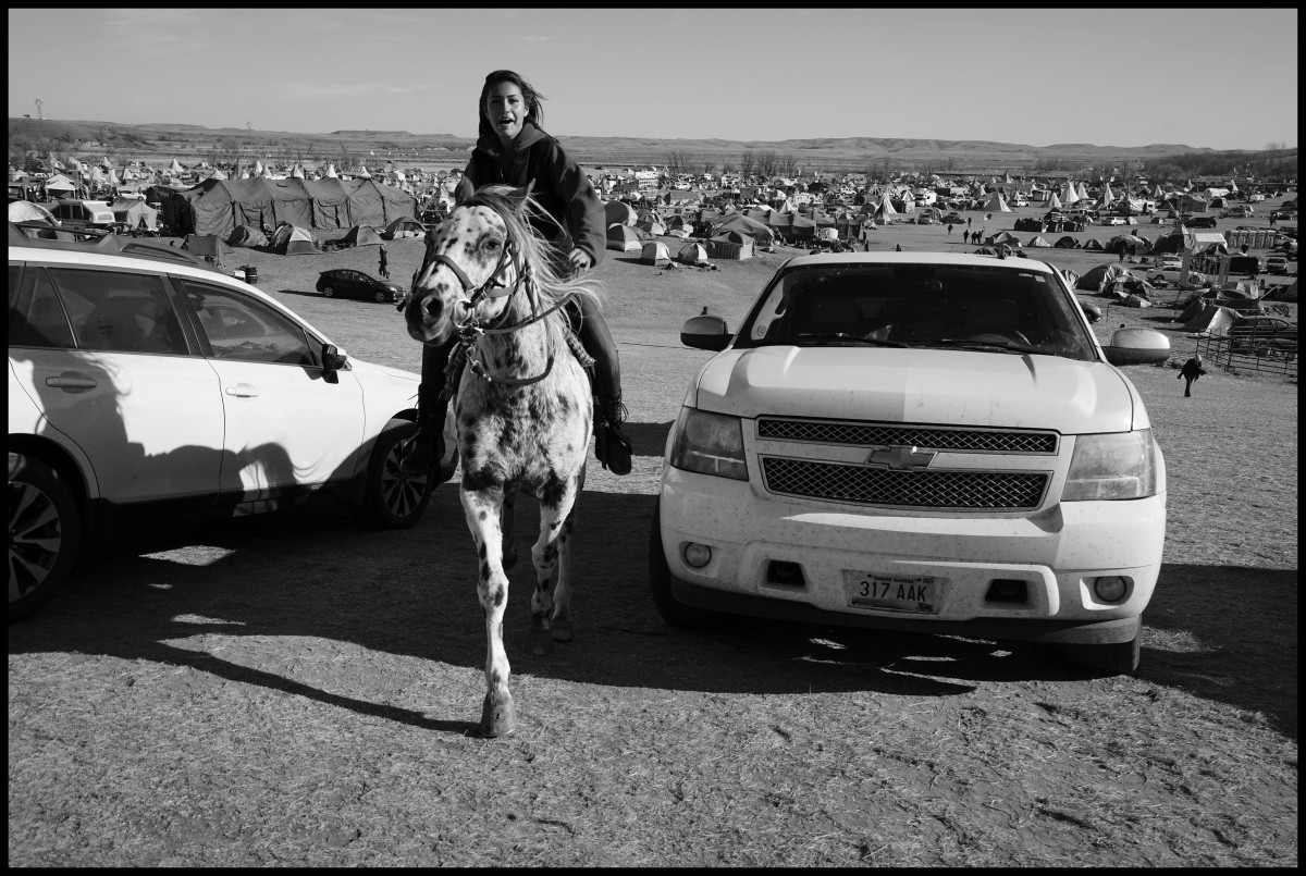 USA. Standing Rock, ND. November 2016. Standing Rock Sioux Indian Protest Camp.