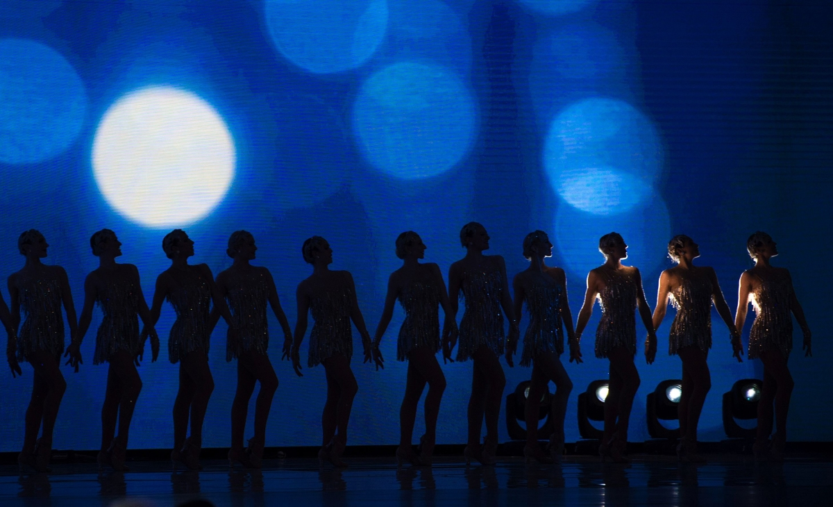 The Radio City Rockettes perform at the Liberty Ball at the Washington, D.C., Convention Center following President Trump's inauguration on Jan. 20, 2017.