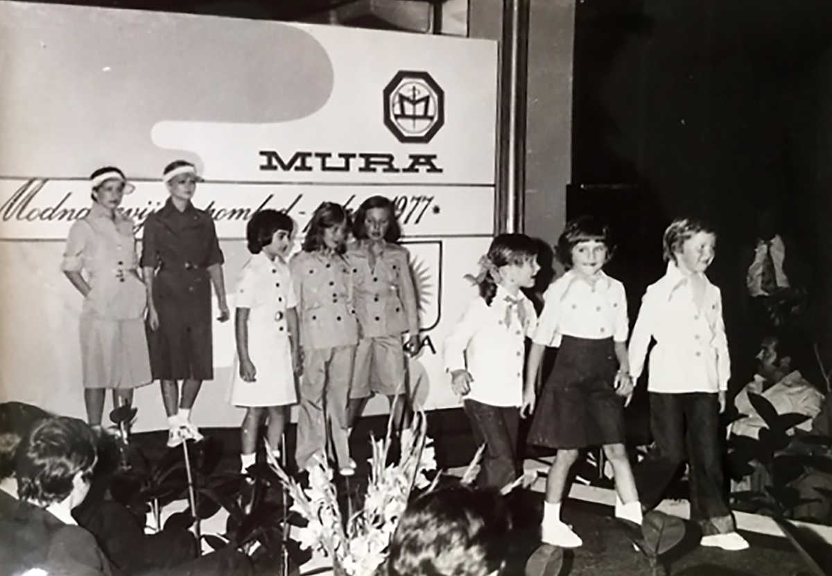 This picture provided by Nena Bedek shows Melania Trump (born Melanija Knavs, 2nd from right) with Nena Bedek (right), attending a fashion review of Jutranjka, the textile company where her mother used to work, in Radenci, northeastern Slovenia, in 1977.