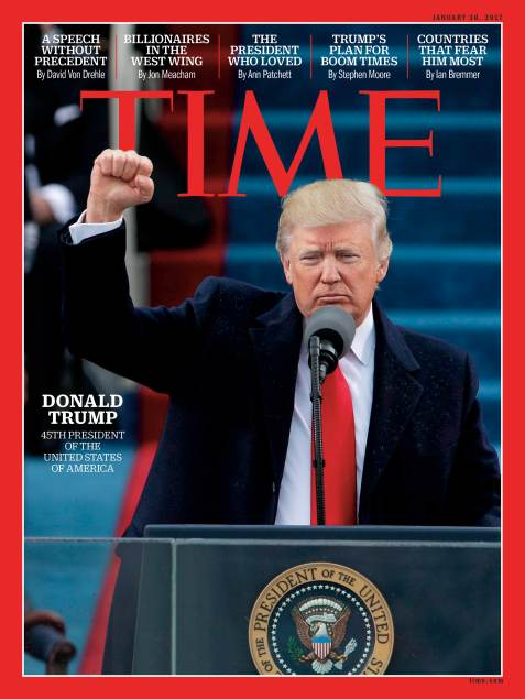Donald Trump Inauguration Time Magazine Cover