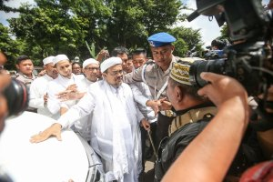 Habib Rizieq Arrives At The Police Headquarters In Jakarta, Indonesia