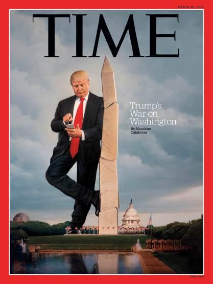 Donald Trump War on Washington Time Magazine cover