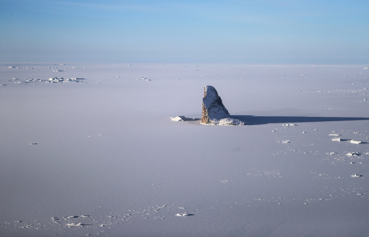 Sea ice along the Upper Baffin Bay coast on March 27.