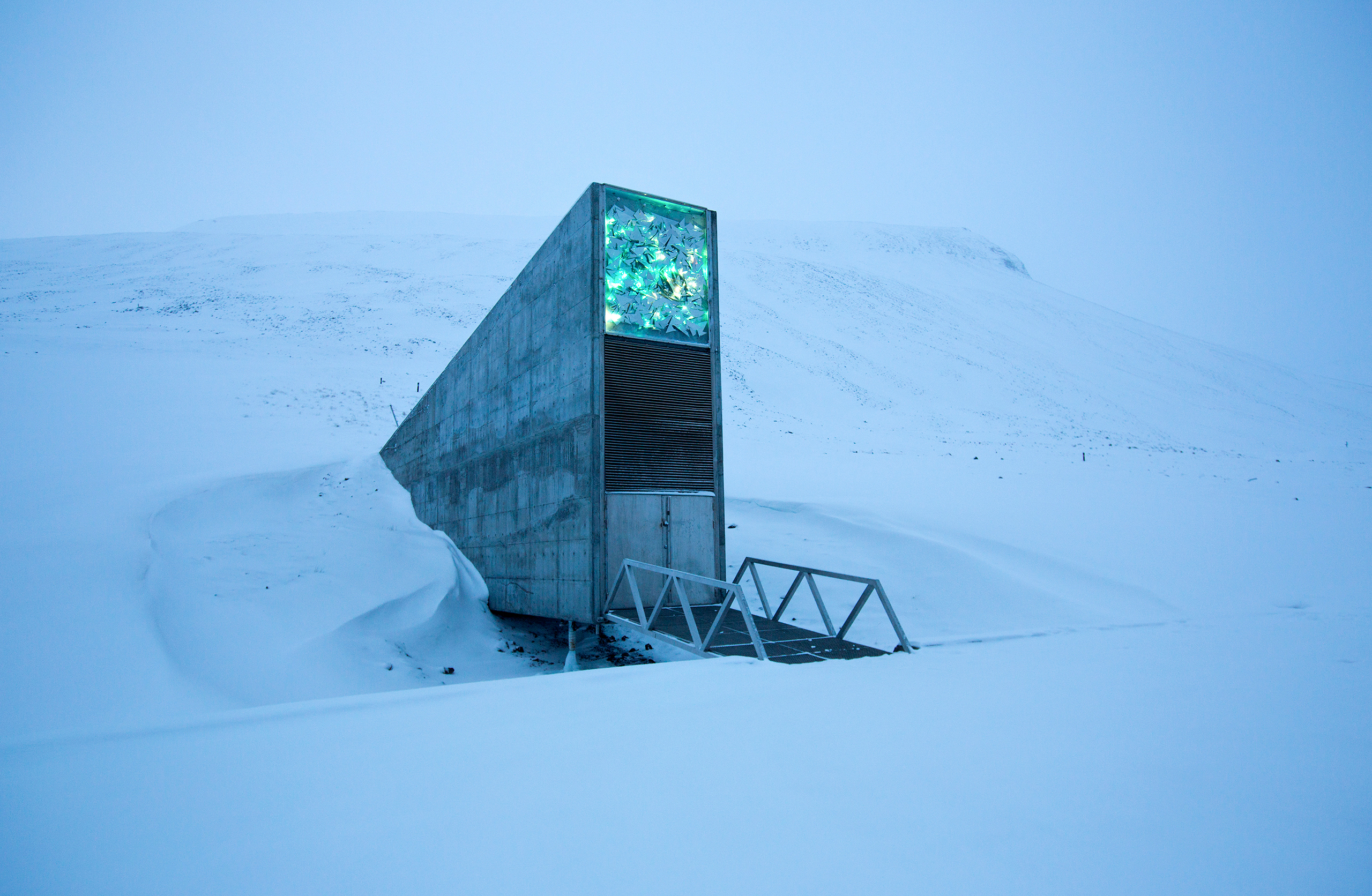 The entrance to the Svalbard Global Seed Vault
