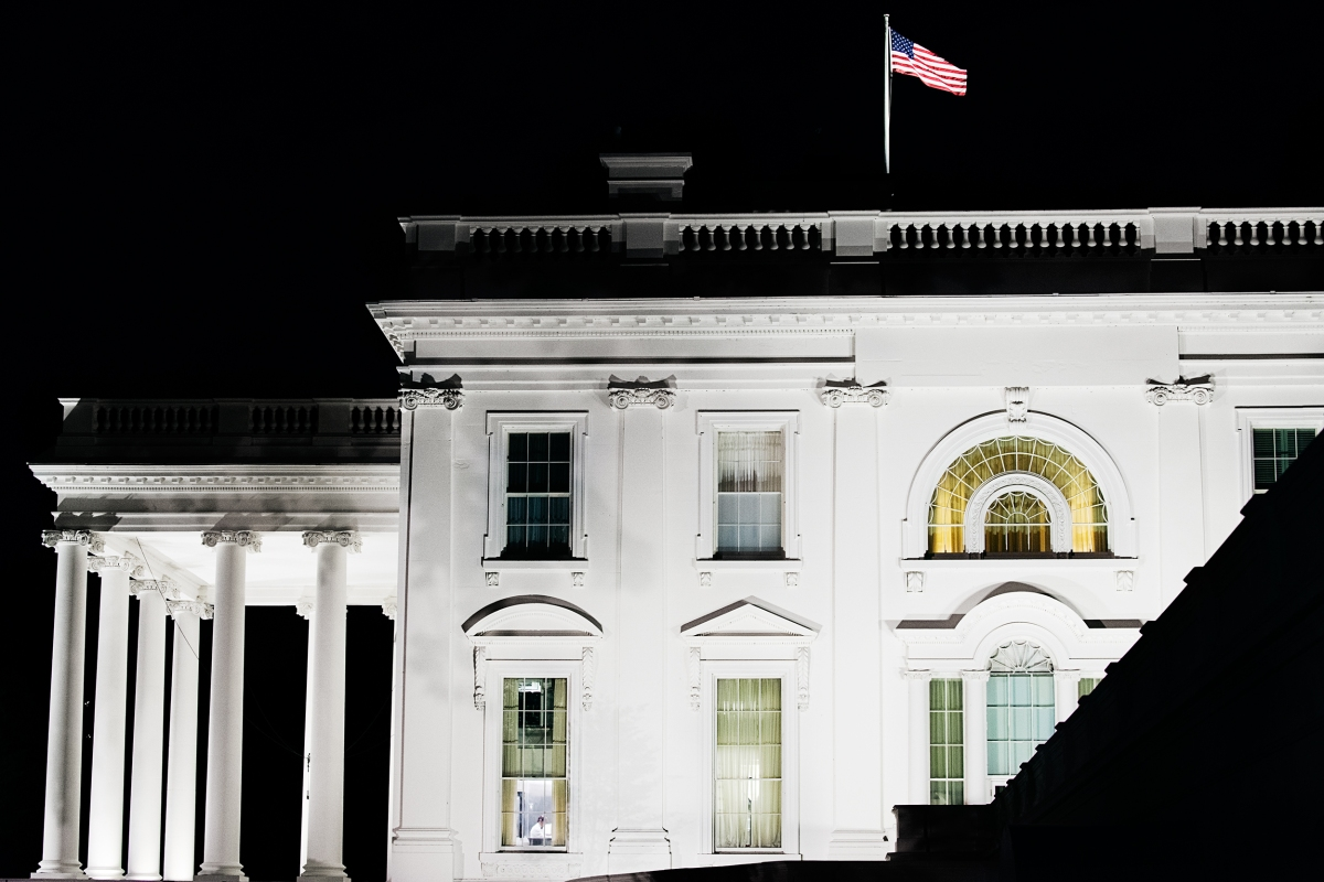 Some evenings, Trump works the phones from his residence before retiring for the night. Benjamin Rasmussen for TIME