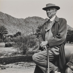 Portrait of Frank Lloyd Wright by an unknown photographer.