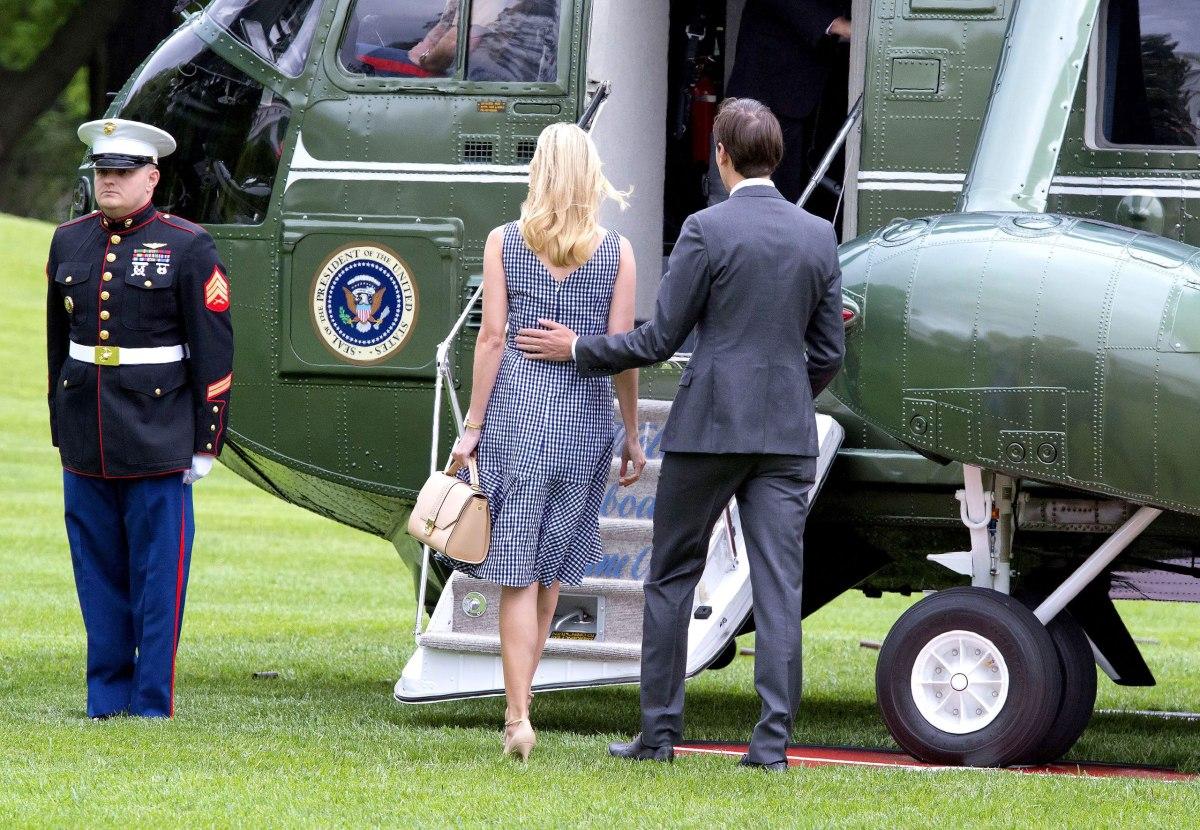 Donald Trump departs the White House, Washington DC, USA - 04 May 2017