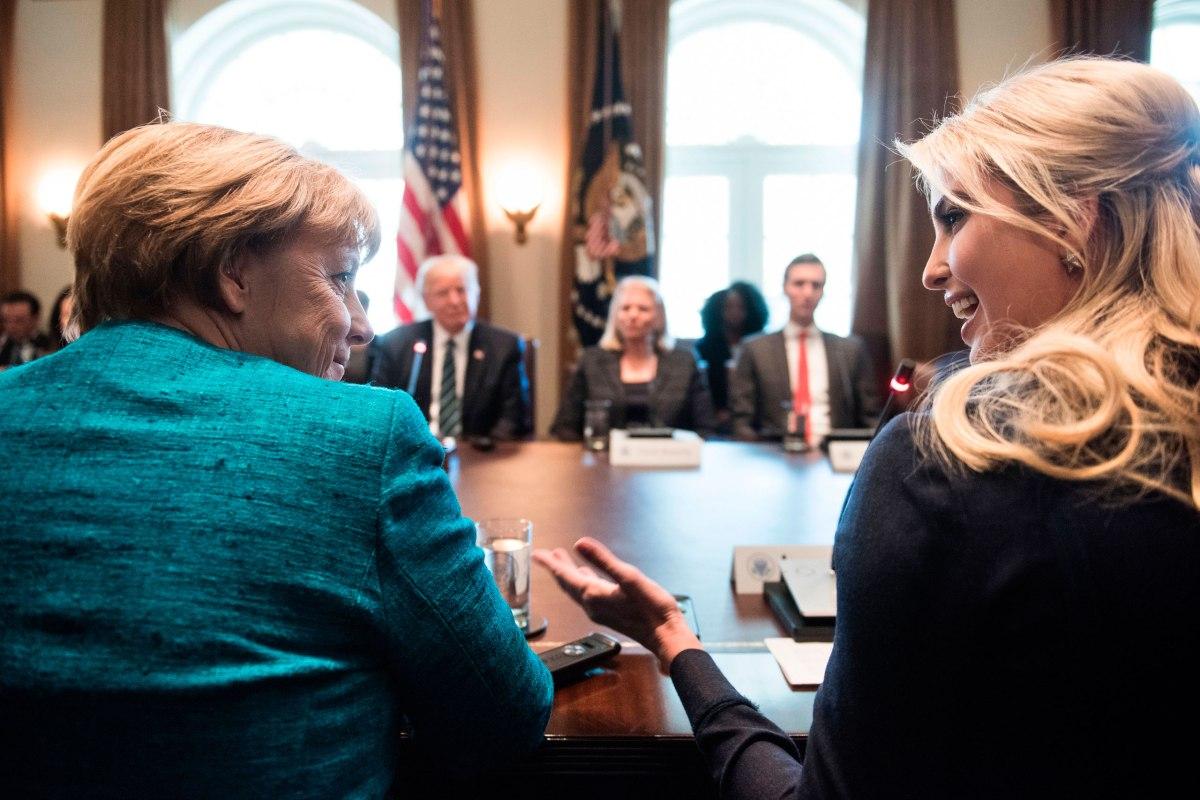 Angela Merkel Ivanka Trump