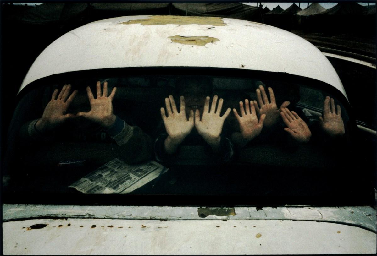 Ingushetia, June 2000. Sleptovsk-Sputnik refugee camp. Stanley Greene—NOOR