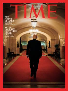 Trump James Comey firing Time Magazine Cover