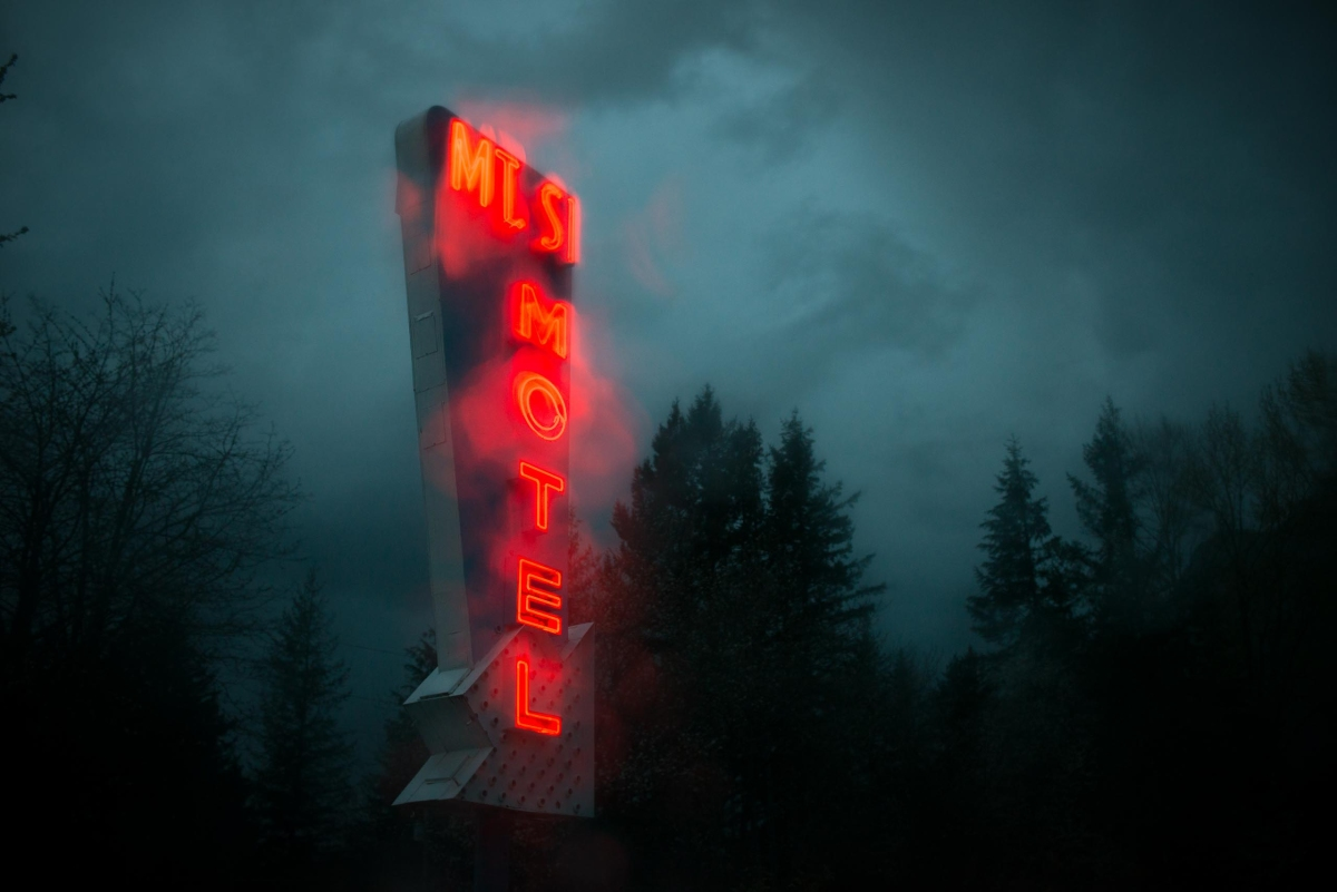 Outside the Mt. Si Motel in North Bend, Wash.