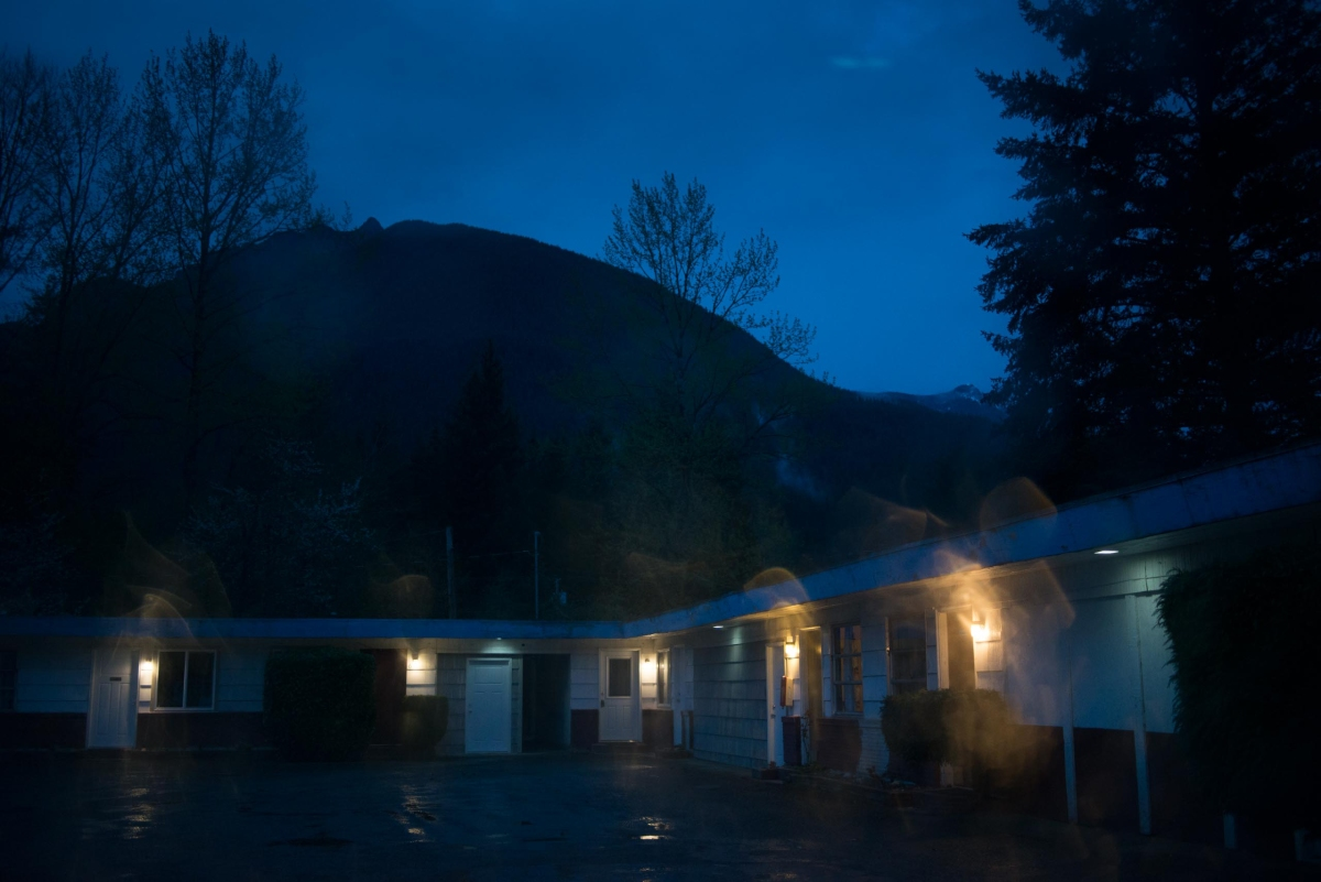 "The Mt. Si Motel in North Bend, Wash., was used as the Blue Diamond Motel in the David Lynch film ""Fire Walk With Me."""
