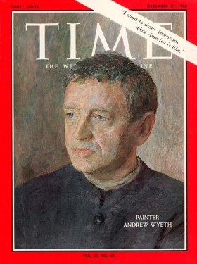Dec. 27, 1963 TIME magazine cover with painting of artist Andrew Wyeth by his sister Henriette Hurd.