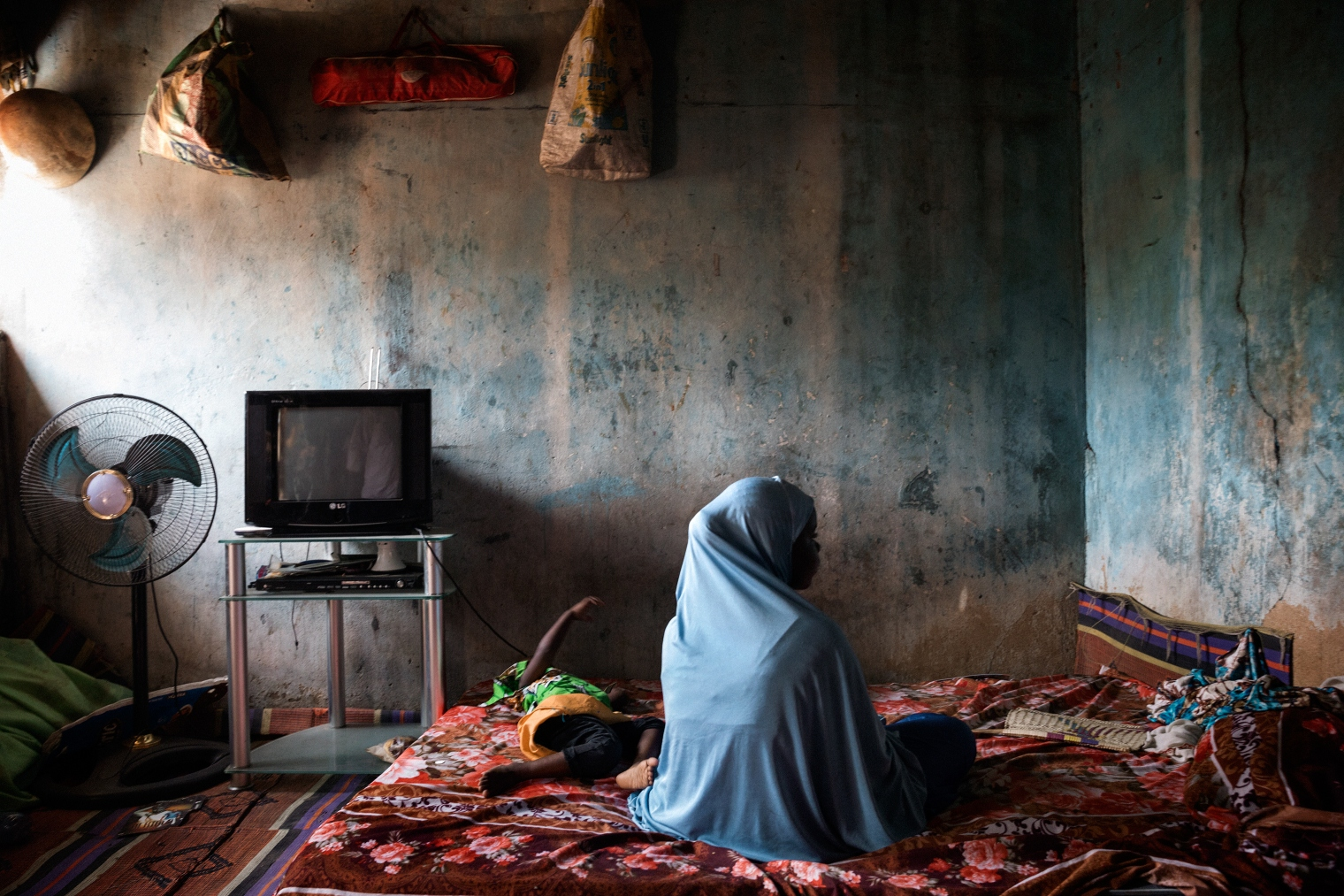 Dada, 14, with her daughter Hussainia, 18 months, was kidnapped and raped at age 12 while a captive of Boko Haram.