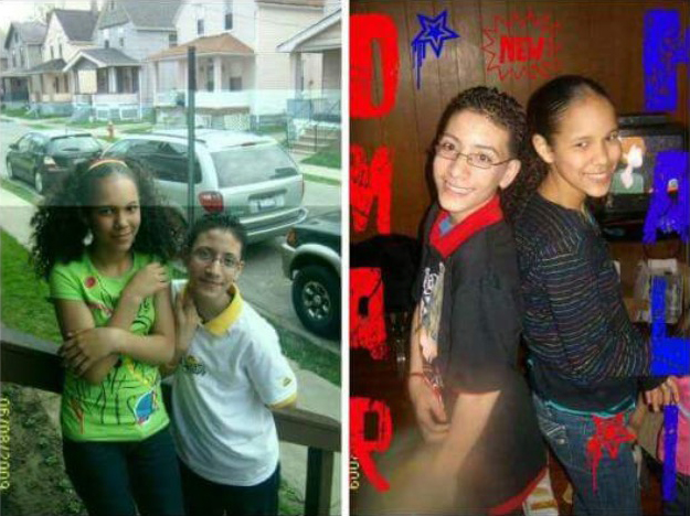 Childhood snapshots of Kaliesha Andino and Luis Omar Ocasio-Capo who had been friends since middle school.