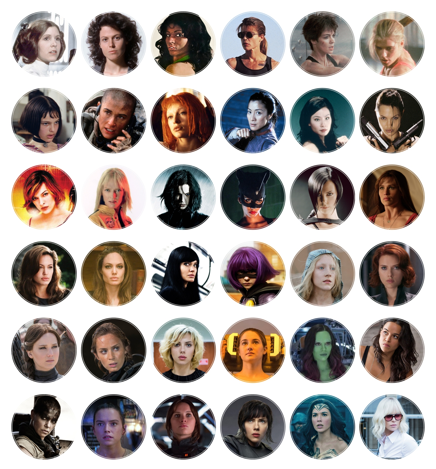 Evolution Of The Female Action Hero Photos