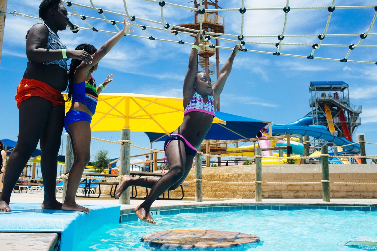 Troop 1500 visits a waterpark outside of Austin. Sara Naomi Lewkowicz for TIME
