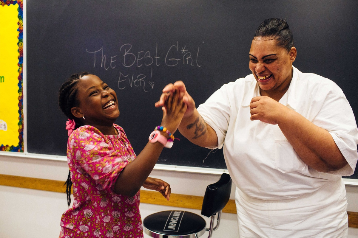 Trunarah Miller goofs off with her mom, Lakeshia Kennedy. Sara Naomi Lewkowicz for TIME