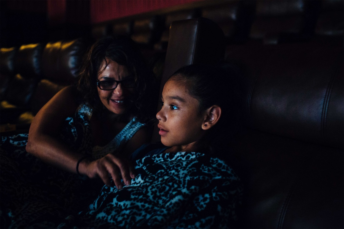 Layla Arenas, 7, got decked out in Wonder Woman gear to go see the new Wonder Woman movie with her grandmother, Tina Cordova. She is a huge fan of superheroes, and female superheroes in particular. Sara Naomi Lewkowicz for TIME