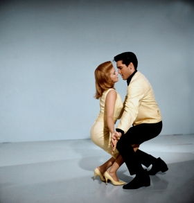 "Swedish-American actress, singer and dancer Ann-Margret and Elvis promoting the movie ""Viva Las Vegas"", 1964."