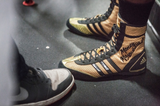 Mayweather's boxing boots.