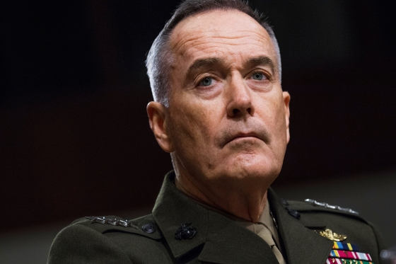 Chairman of the Joint Chiefs of Staff Gen. Joseph Dunford testifies before a Senate Armed Services Committee in Dirksen Building on the Defense Authorization Request for Fiscal Year 2018 and the Future Years Defense Program on June 13, 2017.