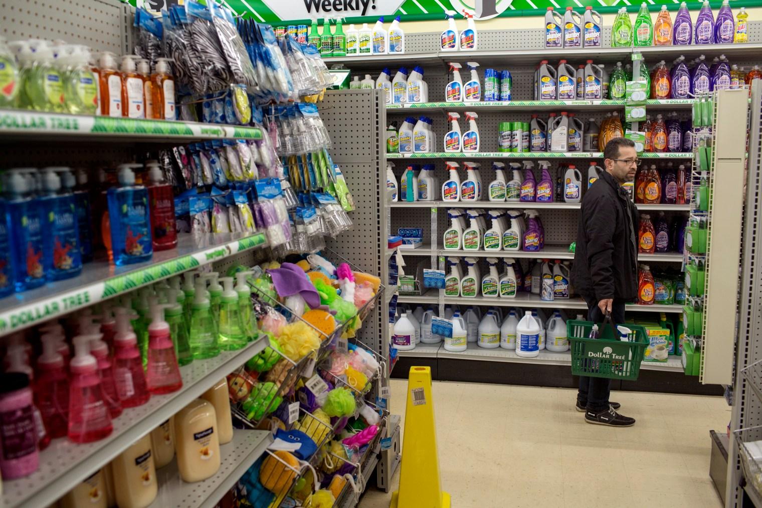 Abdul Fattah Tameem shopping in Des Moines, Iowa.