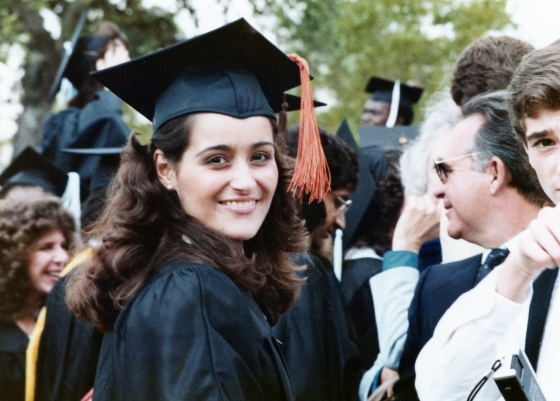 Geisha Williams at her graduation from the University of Miami, 1983.