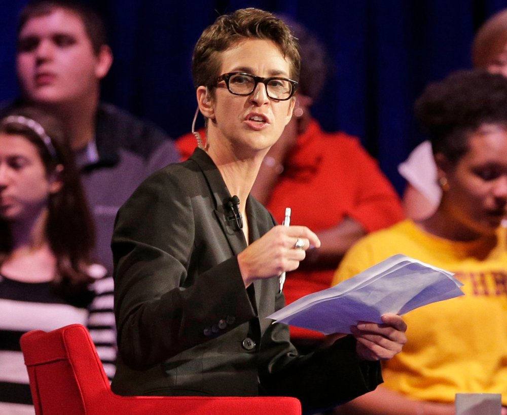 Rachel Maddow speaks during a Democratic presidential candidate forum at Winthrop University in Rock Hill, S.C, on Nov 6, 2015.