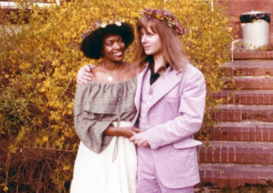 Rita Dove and husband Fred Viebahn at their wedding party in 1979.