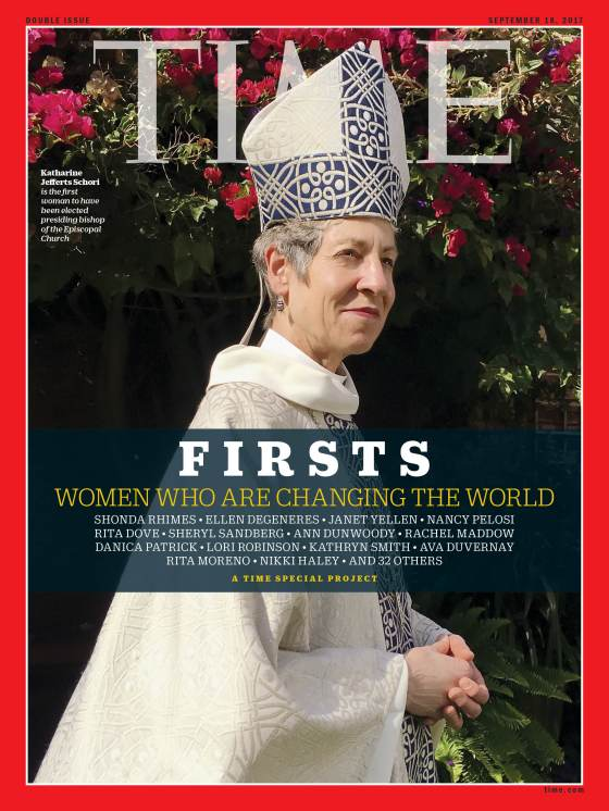 Firsts Women Who Are Changing the World Katharine Jefferts Schori Time Magazine Cover