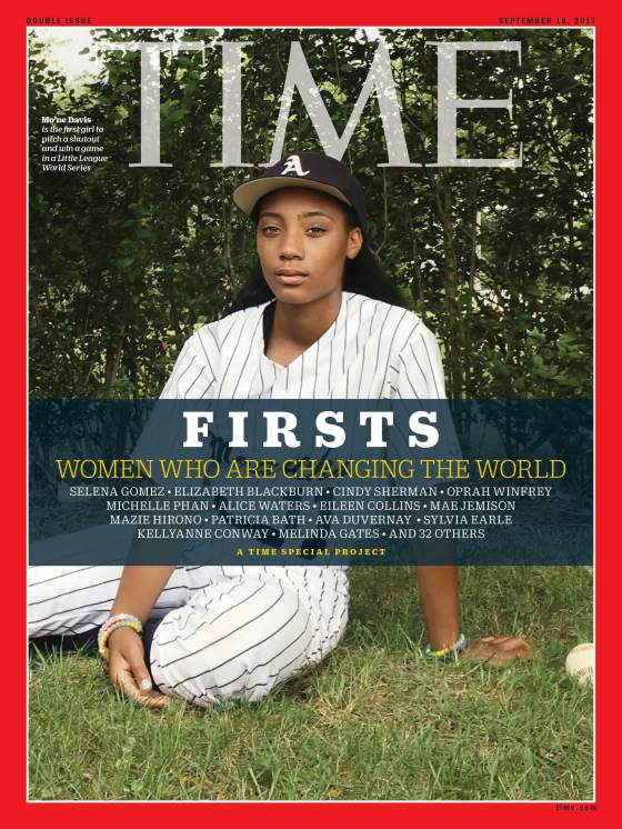 Firsts Women Who Are Changing the World Mo'ne Davis Time Magazine Cover