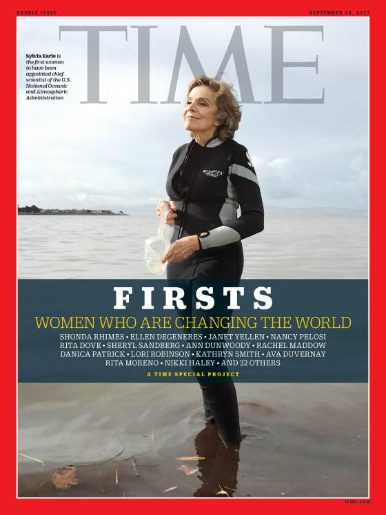 Firsts Women Who Are Changing the World Sylvia Earle Time Magazine Cover