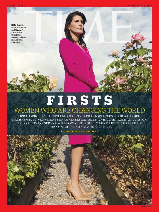 Firsts Women Who Are Changing the World Nikki Haley Time Magazine Cover